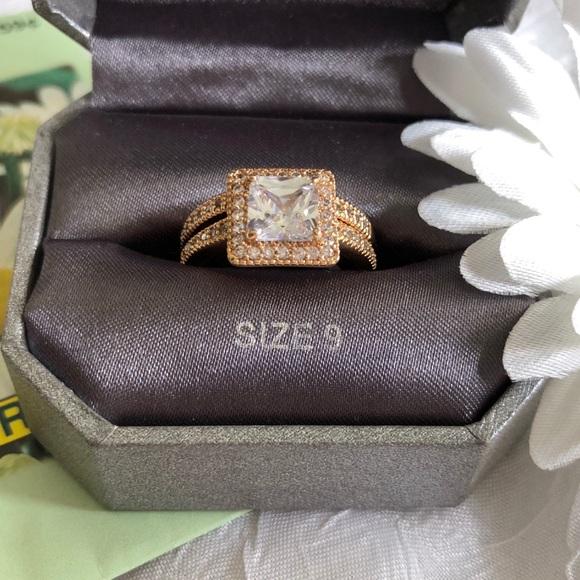 Dillards Jewelry Faux Rose Goldcopper Diamond Ring Set Poshmark